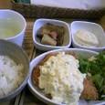 魚プレート:サーモンフライ